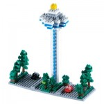 Brixies-58220 Nano 3D Puzzle - Changi Airport Tower (Level 3)