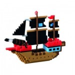 Brixies-58788 Nano 3D Puzzle - Piratenschiff (Level 4)
