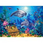 Puzzle  Castorland-030149 Dolphin Family