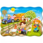 Puzzle  Castorland-03563 A Day on the Farm