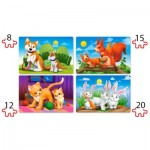 Puzzle  Castorland-041046 XXL Teile - Lovely Animals