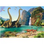 Puzzle  Castorland-06922 Dinosaurier