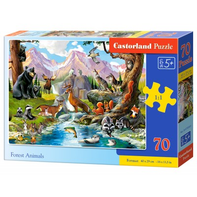Puzzle Castorland-070091 Forest Animals