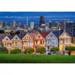 Puzzle  Castorland-103751 Painted Ladies, San Francisco