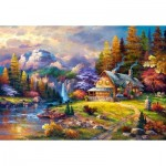 Puzzle  Castorland-151462 Cottage Mountain Hideaway