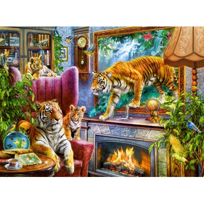 Puzzle Castorland-300556 Tigers Coming to Life
