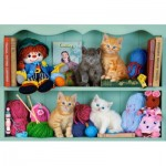Puzzle  Castorland-53377 Kitten Shelves