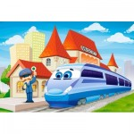 Puzzle  Castorland-B-040216 XXL Teile - At the Railway Station