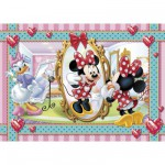 Puzzle  Clementoni-20403 Minnie Maus - Make-up und Schmuck