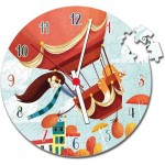 Clementoni-23038 Puzzle Clock - Air Balloon