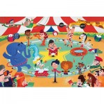 Puzzle  Clementoni-23733 XXL Teile - At the Circus