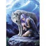 Puzzle  Clementoni-39465 Anne Stokes - Protector