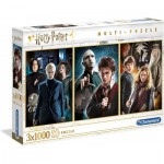 Clementoni-61884 3 Puzzles - Harry Potter