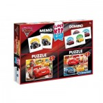 Super Kit 4 in 1 - Cars 3 - 2 Puzzles + Memo + Domino