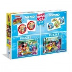 Super Kit 4 in 1 - Mickey and The Roadster Racers - 2 Puzzles + Memo + Domino