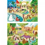 Puzzle   Zoo (2 x 60 Teile)
