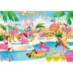 Puzzle   Supercolor Flamingo Party - Glossy Effect