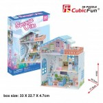 Cubic-Fun-P683h 3D Puzzle - Seaside Village (Schwierigkeit: 4/6)
