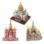 Cubic-Fun-Set-Russian 3 3D Puzzles - Russische Kathedralen
