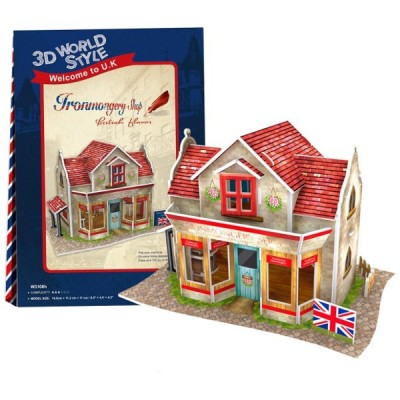 Cubic-Fun-W3108H 3D Puzzle World Style - Welcome to UK