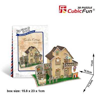 Cubic-Fun-W3118H 3D Puzzle World Style - Welcome to France