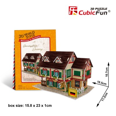 Cubic-Fun-W3127H 3D Puzzle World Style - Welcome to Germany