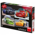 Dino-333178 4 Puzzles - Cars