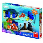 Dino-333215 4 Puzzles - Finding Dory