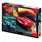 Dino-335240 3 Puzzles - Cars 3