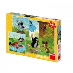 Dino-33525 3 Puzzles - The Little Mole
