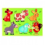 Djeco-01259 Holzpuzzle - Coucou-cow