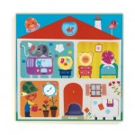Djeco-01519 Holzpuzzle - Swapy