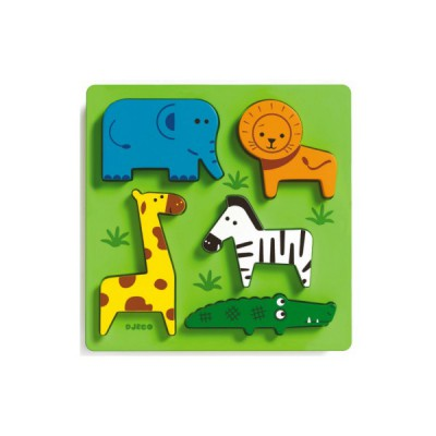 Puzzle Djeco-DJ-01023 Holz Einbau - Incrocodible