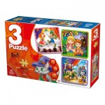 Deico-Games-76540 3 Puzzles - Fairy Tales
