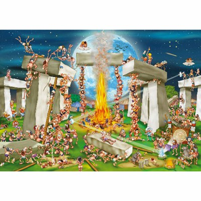 Puzzle DToys-61218-CC02 Cartoon Collection: Stonehenge
