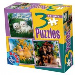 Dtoys-63045-AP-01 3 Tier-Puzzles