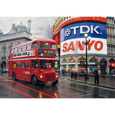 Puzzle Dtoys-64301-NL01-(64301) Bei Nacht - England, Lodon: Piccadilly Circus