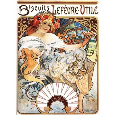 Puzzle DToys-66930-MU04 Alphonse Mucha: Biscuits Lefèvre-Utile
