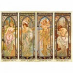 Puzzle  DToys-66930-MU08-(70050) Alphonse Mucha: Die Momente des Tages