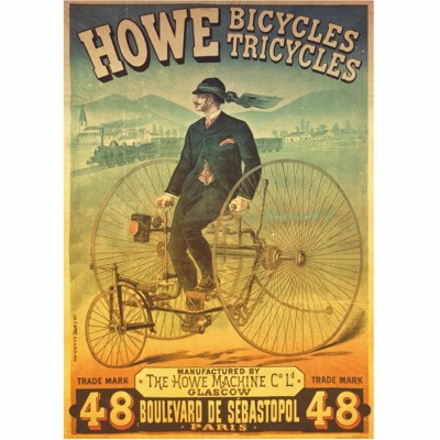 Puzzle DToys-67555-VP01 Vintage Posters: Howe Tricyles