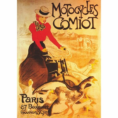 Puzzle DToys-67555-VP02-(69634) Vintage Posters: Motocycles Comiot