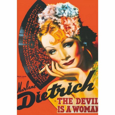 Puzzle DToys-67555-VP10 Vintage Posters: Marlene Dietrich - The Devis is a Woman
