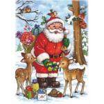 Puzzle  DToys-67616-CH01 Christmas Collection: Der Weihnachtsmann