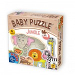 Dtoys-71286-BP01 6 Puzzles - Dschungelbabies