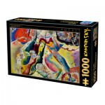 Puzzle  Dtoys-72849-KA-02 Kandinsky Vassily: Painting with Red Spot