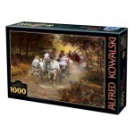 Puzzle  Dtoys-74324-WI01 Alfred Wierusz-Kowalski - Country Wedding