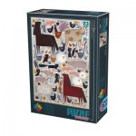 Puzzle  Dtoys-74348-KA01 Andrea Kürti - Farm Animals