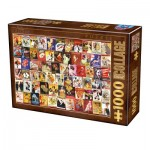 Puzzle  Dtoys-74362-VC06-(75291) Vintage Collage - Cabaret