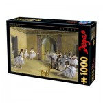 Puzzle  Dtoys-74515 Edgar Degas - Das Tanzfoyer in der Oper