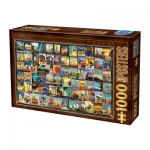 Puzzle  Dtoys-74621 Vintage Collage - Travel